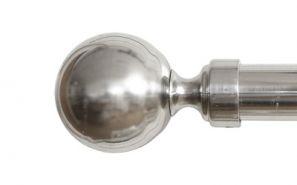 28mm Vista Brushed Steel Rod Set 120cm