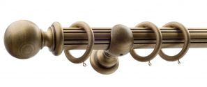 50mm Monarch Countess Bronze Complete Curtain Pole Set 160CM