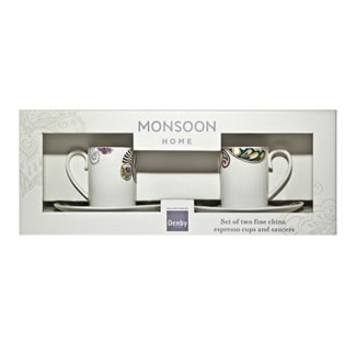 Denby Monsoon Cosmic Espresso Cup & Saucer