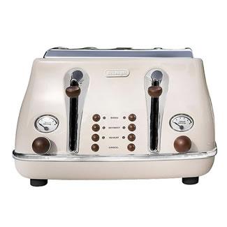 Delonghi Icona VIntage 4-Slice Toaster - Cream
