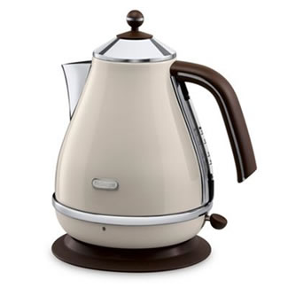 Delonghi Icona Vintage 1.7L Kettle - Cream