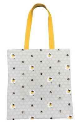 Bee Happy Canvas Tote Bag