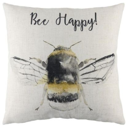 Bee Happy Cushion - 43cm x 43cm