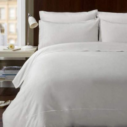 Behrens 400 Thread Count White Fitted Sheet - Single
