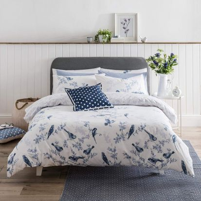 Cath Kidston British Birds Blue Duvet Cover Set - King