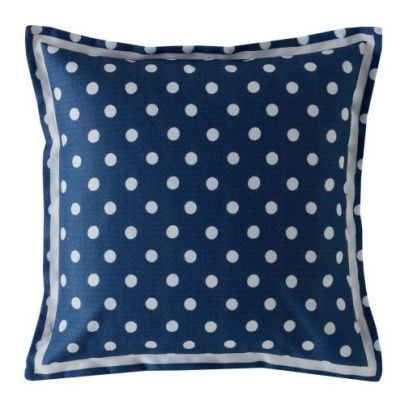 Cath Kidston Button Spot Navy Filled Cushion