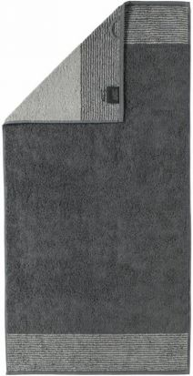 Cawo Two-Tone Slate Bath Towel