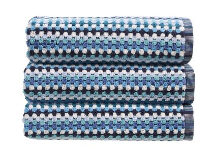 Christy Carnaby Stripe Hand Towel - Blue