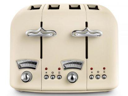 Delonghi Argento Flora 4-Slice Toaster - Beige
