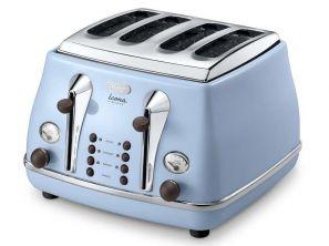 Delonghi Icona Vintage 4-Slice Toaster - Blue