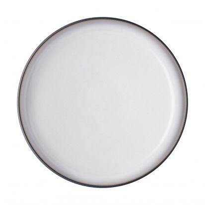Denby Studio Grey Medium Coupe Plate - Quartz White