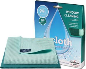 E-Cloth Window Pack of 2 Cloths