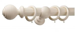 Monarch Earl Cream Complete Curtain Pole Set 300CM