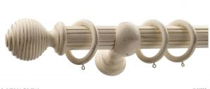 Monarch Earl Cream Gold Complete Curtain Pole Set 160CM