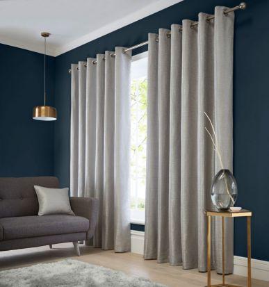 Studio G Catalonia Silver Readymade Curtains 90