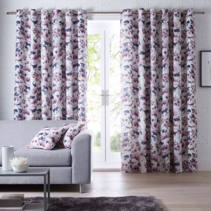 Studio G Chelsea Heather Readymade Curtains - 90