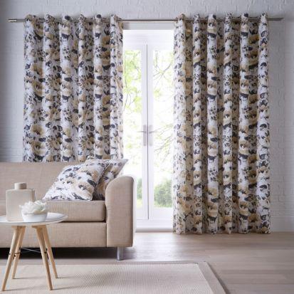 Studio G Chelsea Ochre Readymade Curtains - 90