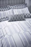 Bianca Cottonsoft Geo Duvet Cover Set Grey - Single 2