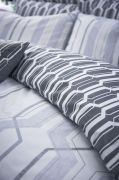 Bianca Cottonsoft Geo Duvet Cover Set Grey - Single 3
