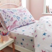 Bianca Woodland Unicorn and Stars Pink Duvet Cover Set - Double 2