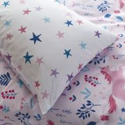 Bianca Woodland Unicorn and Stars Pink Duvet Cover Set - Double 4