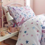 Bianca Woodland Unicorn and Stars Pink Duvet Cover Set - Single 3