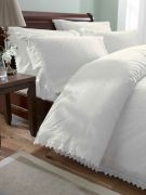 Broderie Balmoral Cream Duvet Cover Set Double