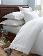 Broderie Balmoral White Duvet Cover Set Single