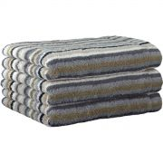 Cawo Lifestyle Stone Stripe - Guest Towel