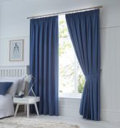 Dijon Ready-Made Blackout Pencil Pleat Curtains – Denim 66