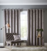 Studio G Navara Mink Eyelet Readymade Curtains 90
