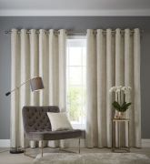 Studio G Navara Oyster Eyelet Readymade Curtains 90
