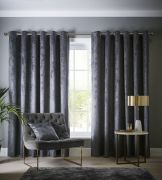 Studio G Navara Slate Eyelet Readymade Curtains 90