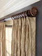 Wood Curtain Poles & Accessories